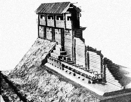 Схема крепостных стен